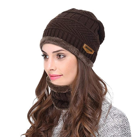 85c39a4e09d Unisex Winter Beanie Hat with Neck Warmer
